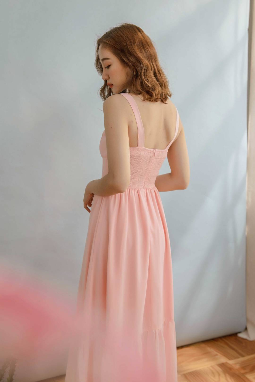 Reformation Dress in Pink