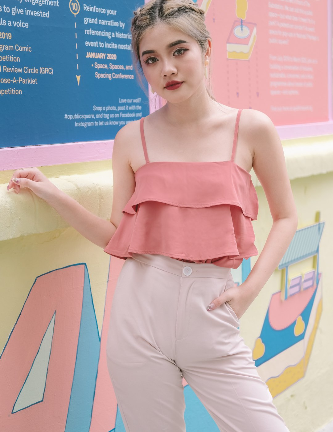 *MFW Label* Hailey Layered Top in Tea Rose
