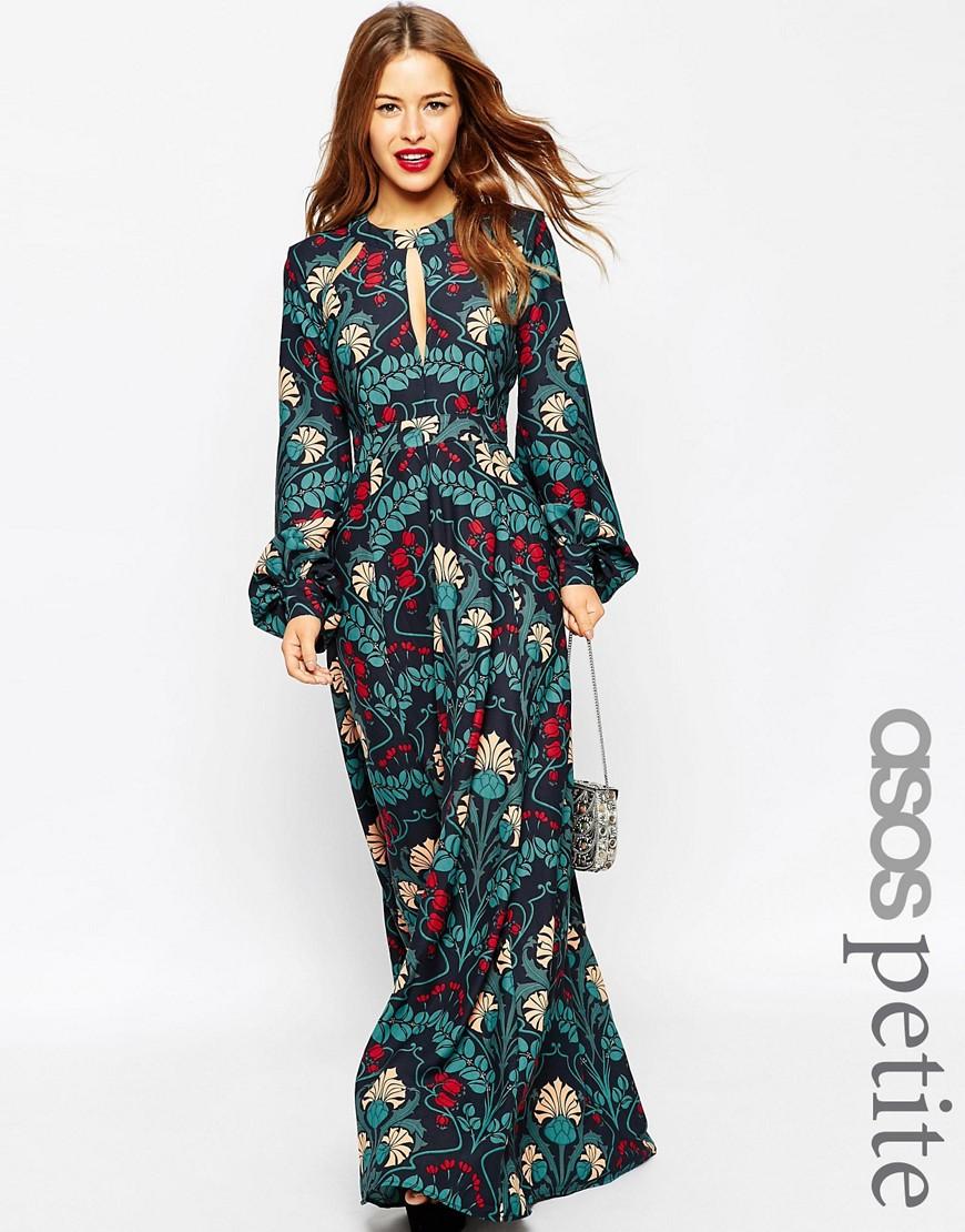 2f574c2cbf ASOS PETITE Floral Kaftan Keyhole Maxi Dress - ShopperBoard
