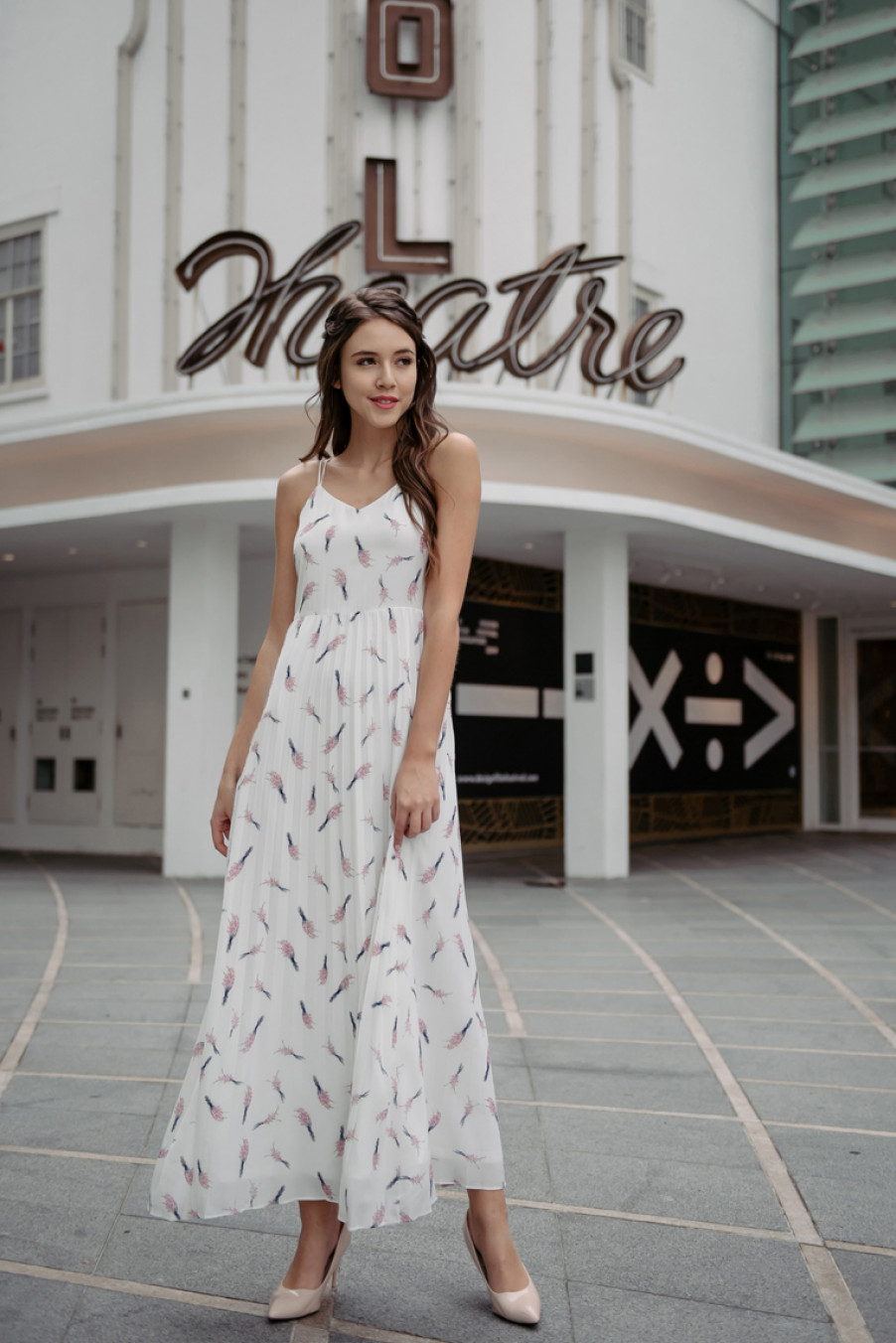 Floral Amour Dress (White)
