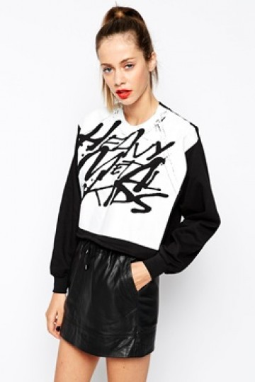 The Laden Showroom X Rolling Drums Heavy Metal Kids Crop Sweatshirt