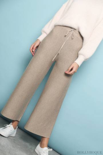 Timless Knit Pants Khaki