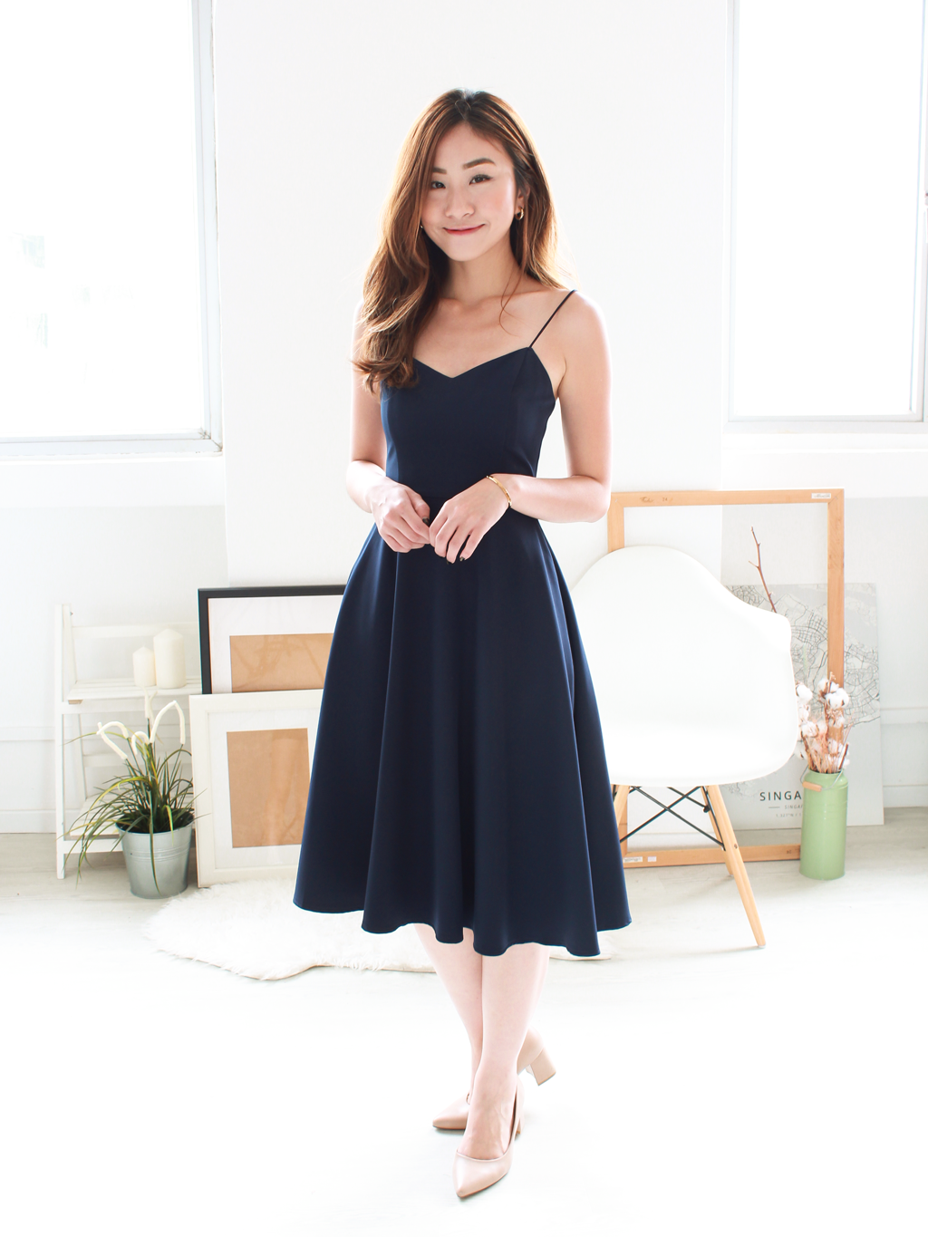 Keran Swing Midi in Navy | *MADEBYWC
