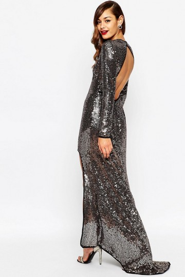 504e9e11f9a ... ASOS RED CARPET Embellished Sequin Maxi Dress With High Low Hem ...