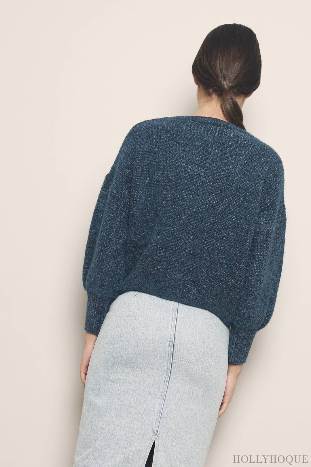 Holiday Groove Knit Sweater Teal