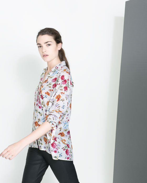 288853ffd3 FLORAL PRINT SHIRT WITH POCKET - TRF - New this week   ZARA ...