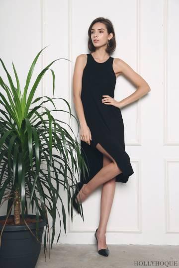 Samantha Hi-Low Dress Black (Restock)