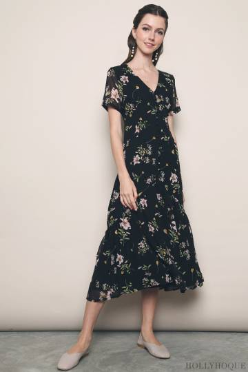 Savannah Tea Dress Black