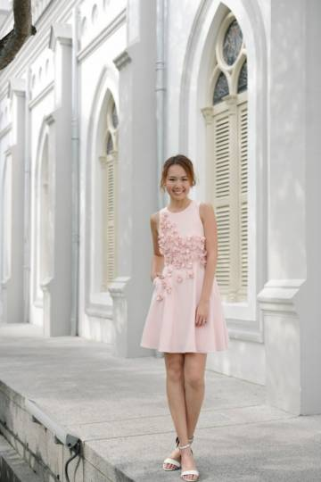 *PREMIUM* You Haute To Love Embellished Dress (Pink)