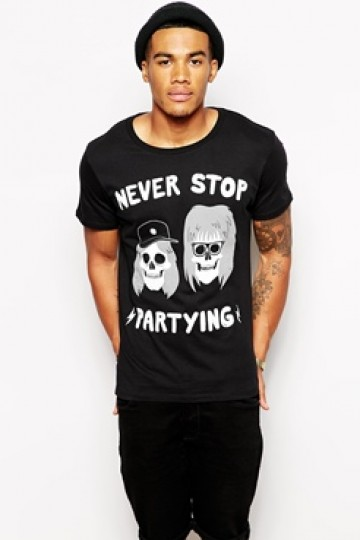 Threadless Never Stop Partying T-Shirt