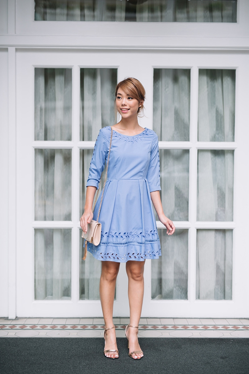 f03d7c9f8b6 Laurel Garland Dress (periwinkle). From Lolly Rouge