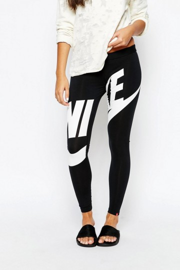 25c0b0e79173ec Nike Leg-A-See Leggings With Large Front Logo - ShopperBoard