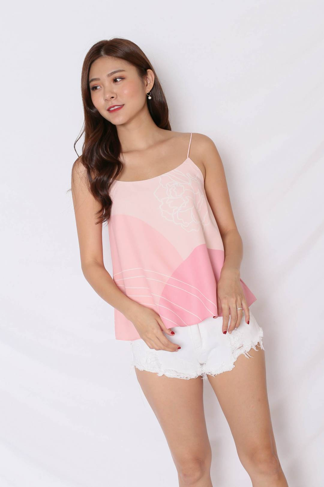 (PREMIUM) REUNION SPAG TOP IN PINK