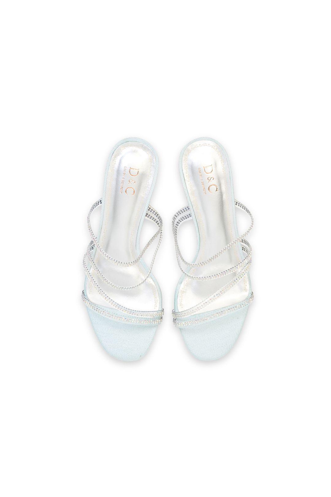 Crystal Embellished Lucite Strappy Block Heel Sandals