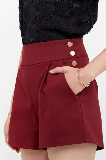 Lenee Button Tailored Shorts