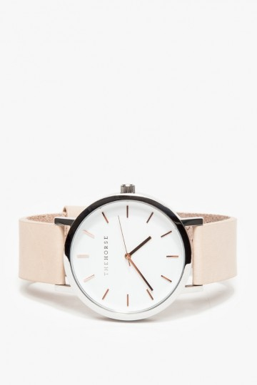 Rose Gold/Natural Band Watch
