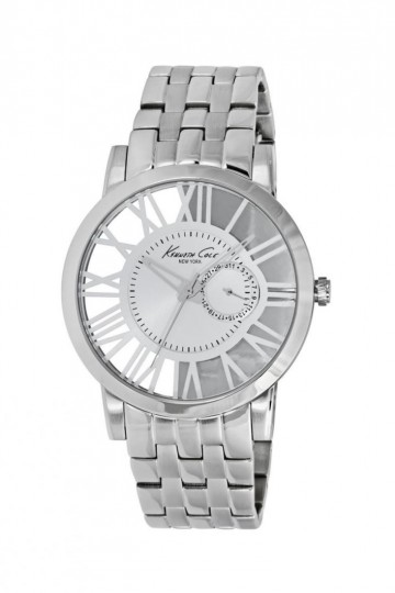 Kenneth Cole Transparent Case Silver Bracelet Watch
