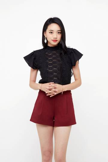 Arabel Lace Overlay Top