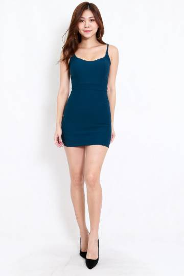 *Premium* Criss Cross Back Dress (Teal)