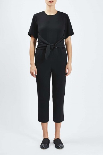 Tie-Front Jumpsuit By Boutique