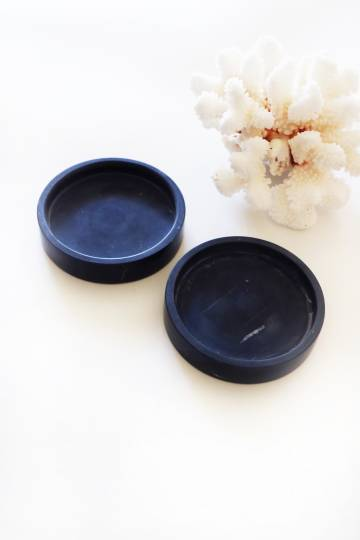 Mini Marble tray in black