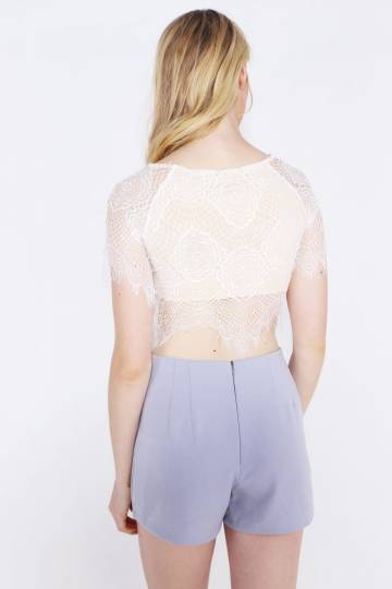 Ariana Short Sleeved Lace Top