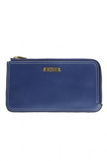 Abrielle Chic Zip Wallet - Blue