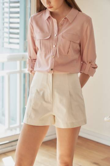 RYKEL Button Shirt in Blush, By LVG