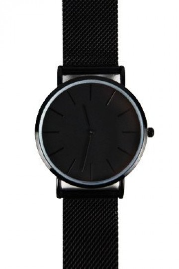The Mesh Watch - Black Steel