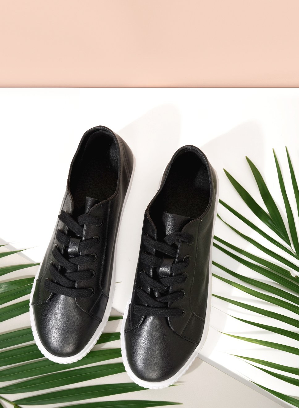 NITA LEATHER SNEAKERS (BLACK)