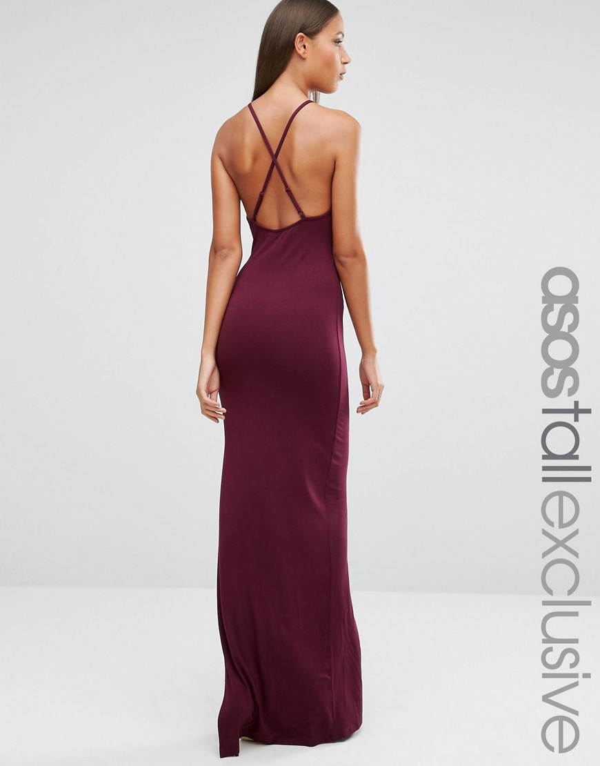 639028b143 ASOS TALL Halter Strappy Back Maxi Dress - ShopperBoard