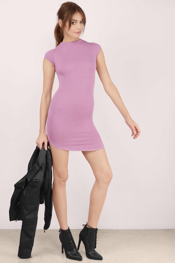91b9ded9683d Hot & Delicious Day N Night Mauve Bodycon Dress - ShopperBoard