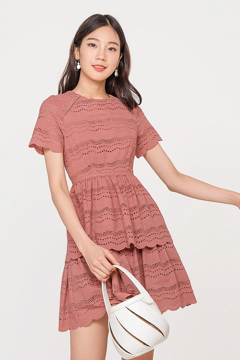 Hailey Eyelet Tiered Dress