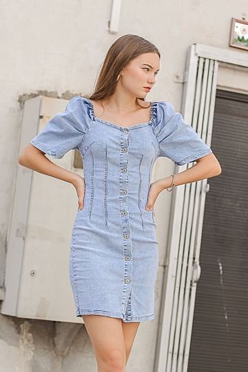 DIEDRA DENIM DRESS