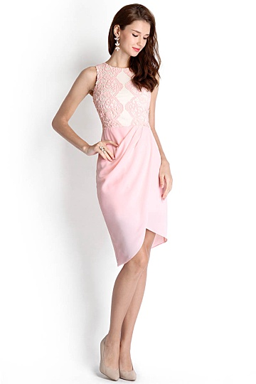 Cleopatra Dress In Soft Pink