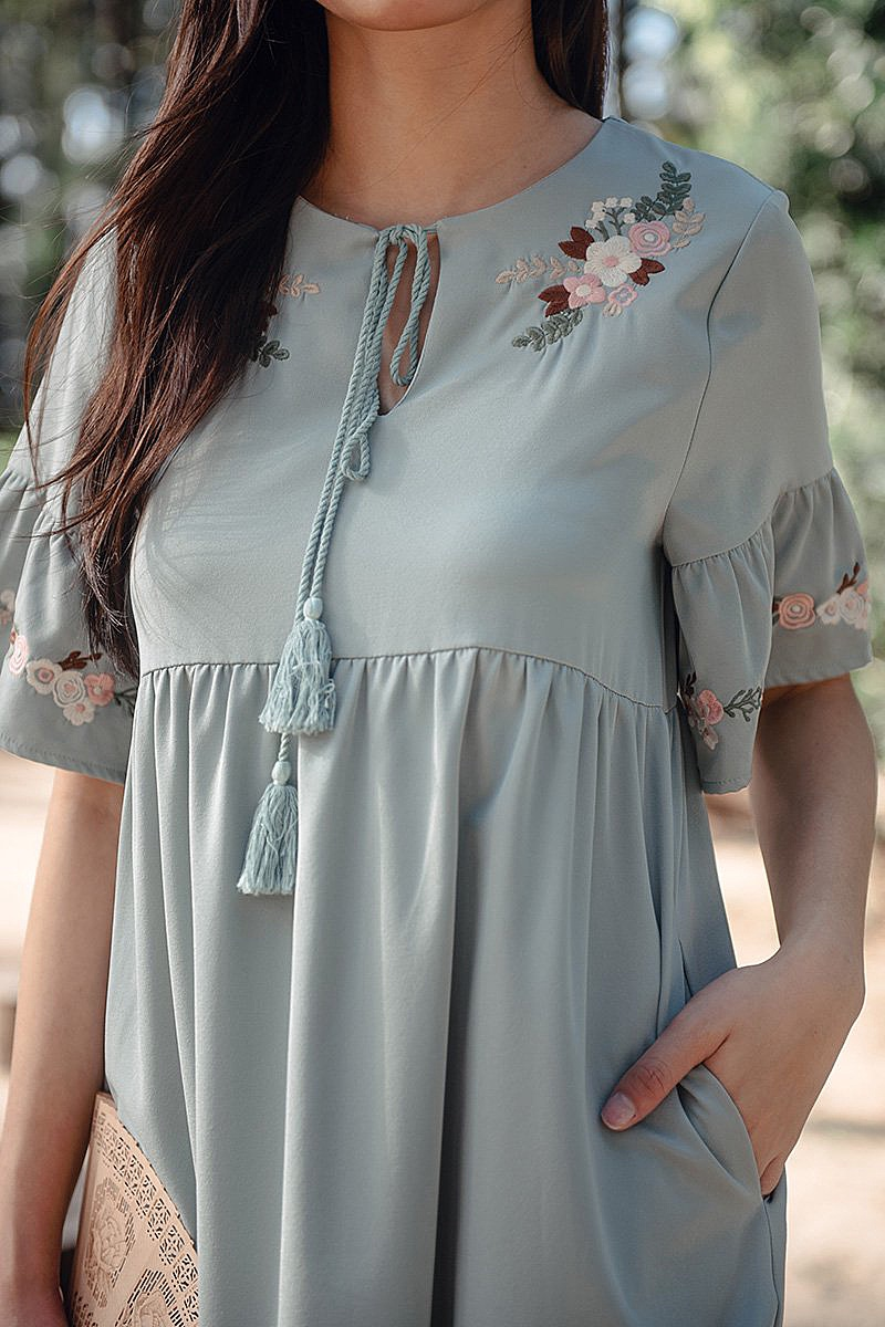 Spring Wildflower Dress (sage)