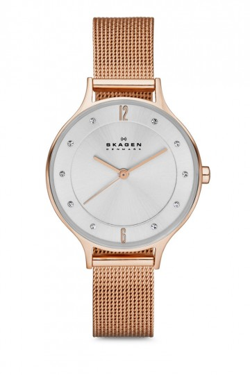 Skagen Anita Rose Gold Stainless Steel Watch SKW2151