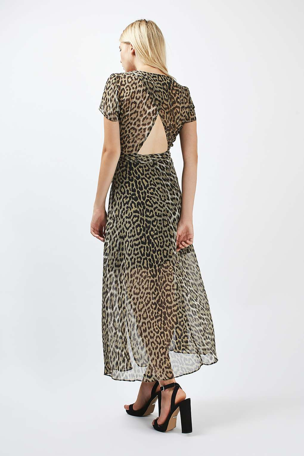 PETITE Leopard Wrap Midi Dress - ShopperBoard ac074b412