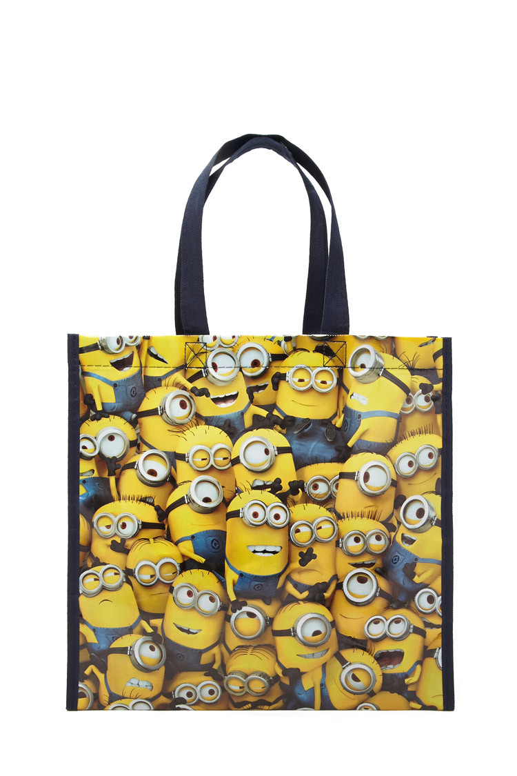 ced3c5507cd Glossy Minion Eco Tote. From Forever 21