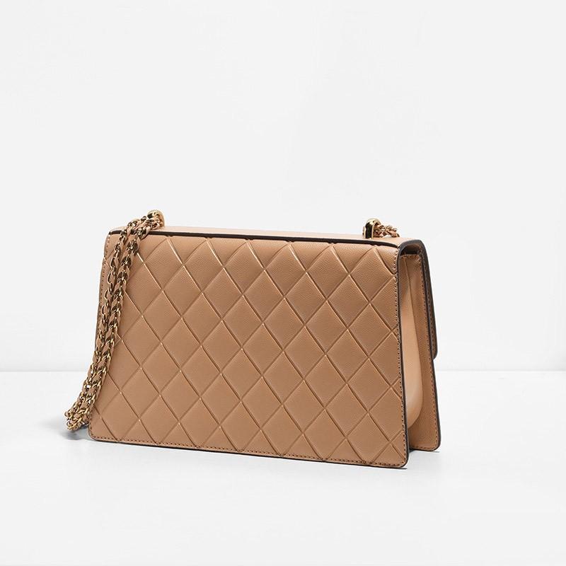 QUILTED CHAIN SHOULDER BAG - ShopperBoard