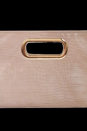JNB Coco Clutch Taupe