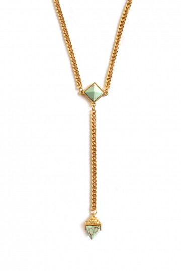 Dara Turquoise Drop Necklace