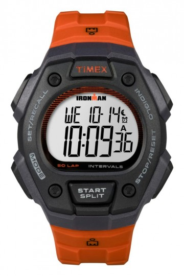 Timex IRONMAN® Classic 50-Lap Full-Size - Orange/Black Resin Strap
