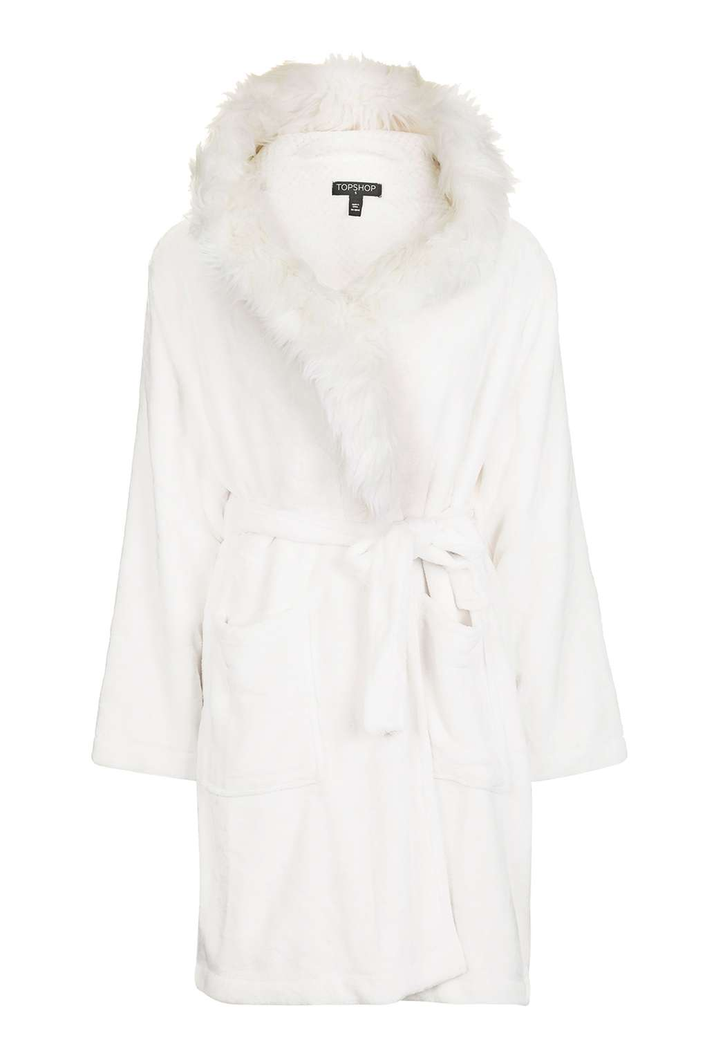 Full Fur Hooded Robe - ShopperBoard