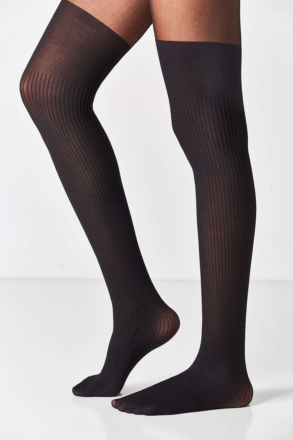 Out From Under Ribbed Faux Thigh High Tights Shopperboard