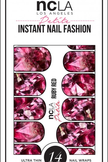 NCLA Ruby Red Nail Wrap