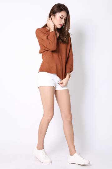 (RESTOCKED) DAYDREAMER KNIT TOP IN CAMEL
