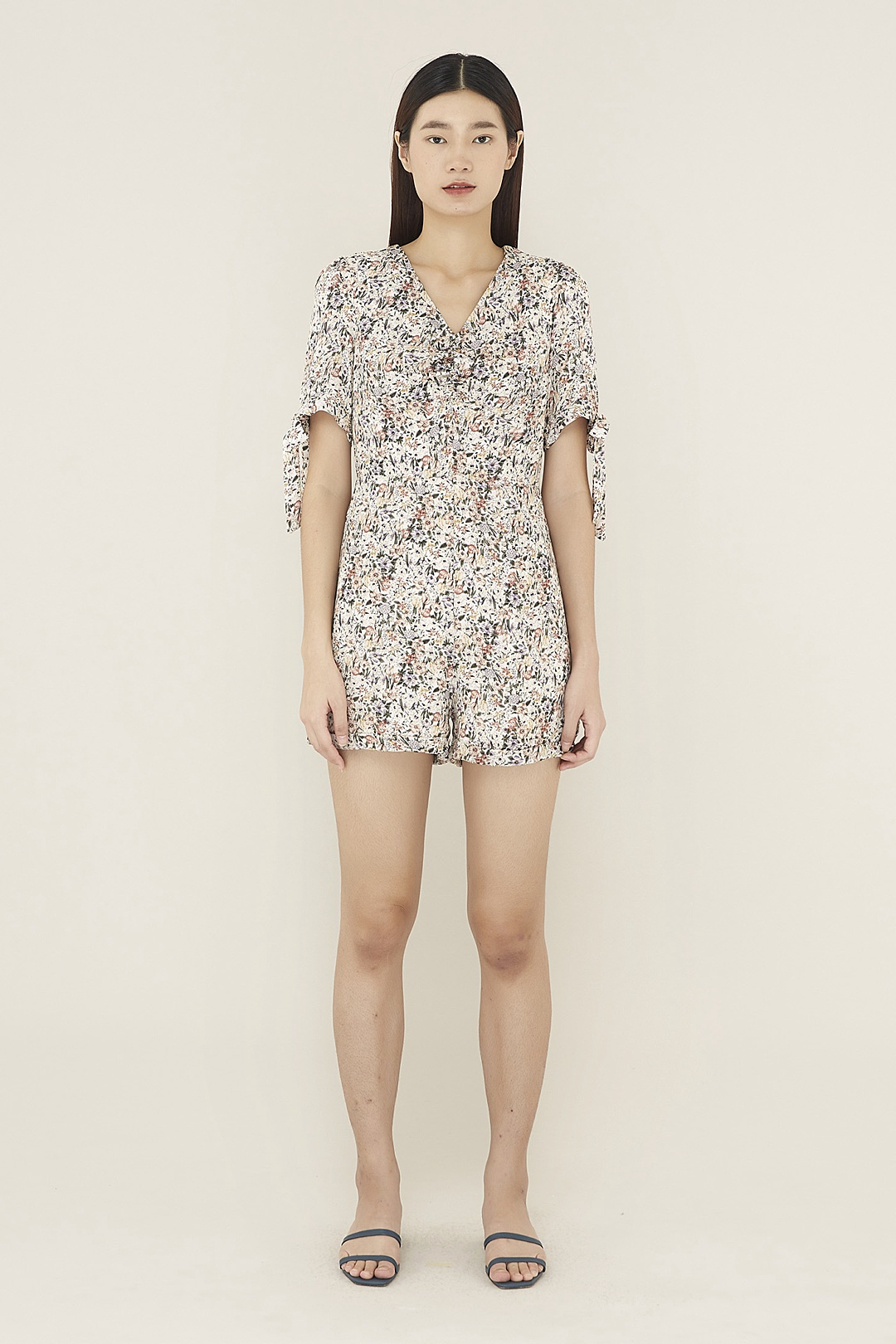 Marisa Ruched-front Romper