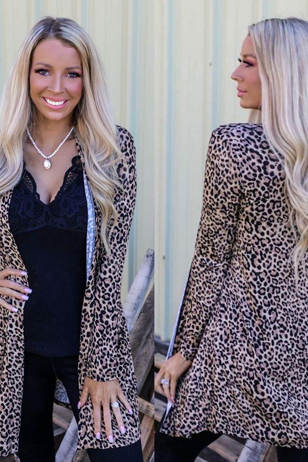 Lainey Leopard Cardigan with Pockets