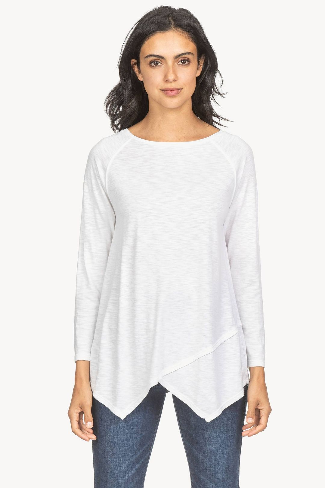 Crossed Front Boatneck Top